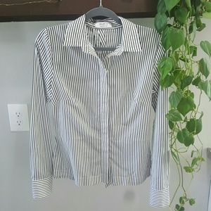 Bailey 44 Striped Button Down Bow Detail